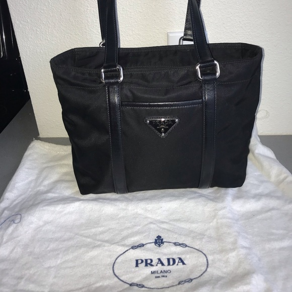 4f7f4f4da839 Authentic prada velo tote neverfull purse black. M_5bee0a4545c8b33b382d1b80